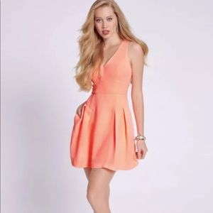 Neo coral mini dress
